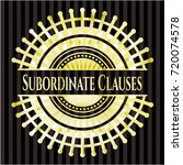 subordinate clauses shiny badge | Shutterstock .eps vector #720074578