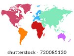 color world map | Shutterstock .eps vector #720085120