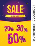 sale banner template design.... | Shutterstock .eps vector #720085774