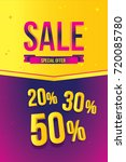 sale banner template design.... | Shutterstock .eps vector #720085780