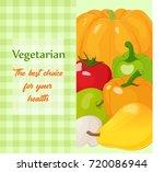 fresh and tasty vegetables for...   Shutterstock .eps vector #720086944