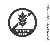 gluten free icon. vector...