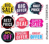 big  super sale  special  great ... | Shutterstock .eps vector #720089266