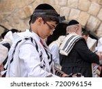 israel  jerusalem. a jewish boy ... | Shutterstock . vector #720096154