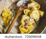tortelloni  typical bologna... | Shutterstock . vector #720098548
