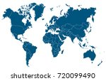 world map vector | Shutterstock .eps vector #720099490