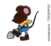 cute mouse worker cartoon | Shutterstock .eps vector #720105910