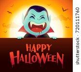 happy halloween. dracula...   Shutterstock .eps vector #720111760