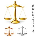 scales set   vector illustration | Shutterstock .eps vector #72011278