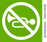 no horn traffic sign icon white ... | Shutterstock .eps vector #720113428