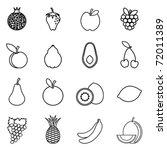 fruit icon set | Shutterstock .eps vector #72011389