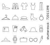 woman fashion and clothes icons | Shutterstock .eps vector #72011398