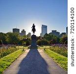 Boston Public Garden And Georg...