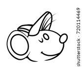 cute mouse cartoon | Shutterstock .eps vector #720114469