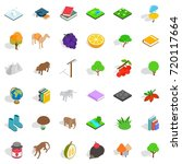 camel icons set. isometric... | Shutterstock .eps vector #720117664