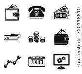 gambling house icons set.... | Shutterstock .eps vector #720118810