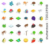 fauna icons set. isometric... | Shutterstock .eps vector #720119548
