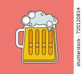 beer mug vector linear icon....   Shutterstock .eps vector #720120814