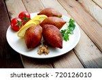kibbeh is a popular dish in... | Shutterstock . vector #720126010