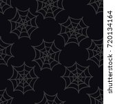 spider web seamless doodle... | Shutterstock .eps vector #720134164