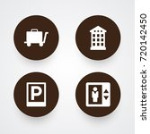 set of 4 hotel icons set... | Shutterstock .eps vector #720142450