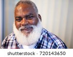 african american man smiling... | Shutterstock . vector #720143650