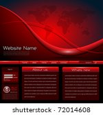 website template red black ... | Shutterstock .eps vector #72014608