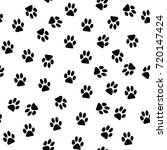 cat trace pattern background ... | Shutterstock .eps vector #720147424