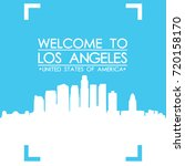 welcome to los angeles skyline... | Shutterstock .eps vector #720158170