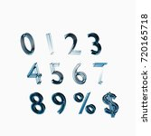font. the digits are from 0 to... | Shutterstock . vector #720165718