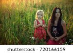 mother and daughter in the... | Shutterstock . vector #720166159