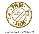 grunge rubber stamp with film...