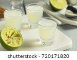boozy lime  and vodka kamikaze...   Shutterstock . vector #720171820