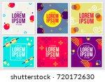 memphis style backgrounds... | Shutterstock .eps vector #720172630