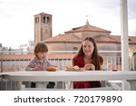 beautiful young family of...   Shutterstock . vector #720179890