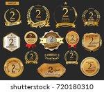 anniversary golden laurel... | Shutterstock .eps vector #720180310