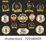 anniversary golden laurel... | Shutterstock .eps vector #720180409