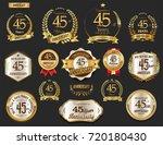 anniversary golden laurel... | Shutterstock .eps vector #720180430