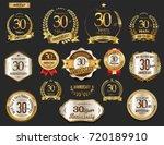 anniversary golden laurel... | Shutterstock .eps vector #720189910