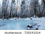frozen river | Shutterstock . vector #720191314