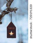 christmas lantern | Shutterstock . vector #720191320