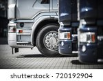 semi trucks on the rest area... | Shutterstock . vector #720192904