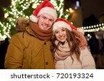 winter holidays and people... | Shutterstock . vector #720193324