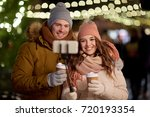 winter holidays  hot drinks and ... | Shutterstock . vector #720193354