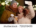 winter holidays  hot drinks and ... | Shutterstock . vector #720193450