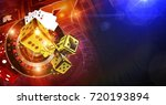 casino games of fortune... | Shutterstock . vector #720193894