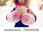 people  season  drinks and...   Shutterstock . vector #720194158