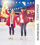 christmas  winter and leisure... | Shutterstock . vector #720195910