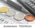 financial background with money ... | Shutterstock . vector #720196114