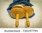classical torah scrolls in a... | Shutterstock . vector #720197794